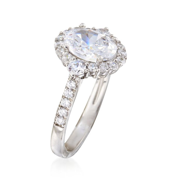 2.58 ct. t.w. CZ Ring in Sterling Silver