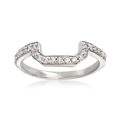 .24 ct. t.w. Curved Diamond Ring in 14kt White Gold, , default