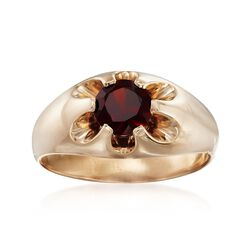 C. 1970 Vintage Men's 1.60 Carat Rhodolite Garnet Ring in 14kt Yellow Gold. Size 11, , default