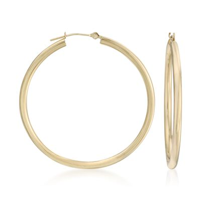 20mm 14kt Yellow Gold Hoop Earrings, , default