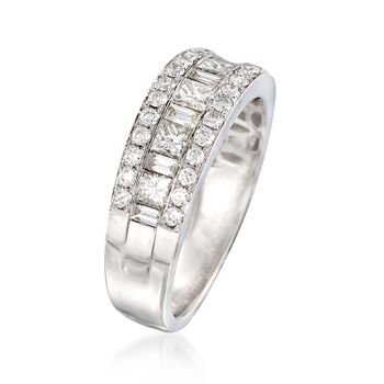 1.00 ct. t.w. Diamond Ring in 18kt White Gold. Size 7, , default