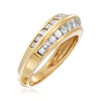 C. 1990 Vintage 1.50 ct. t.w. Channel-Set Baguette Diamond Ring in 18kt Yellow Gold. Size 6.25, , default