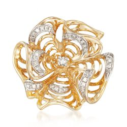 .20 ct. t.w. Diamond Pinwheel Pendant in 14kt Yellow Gold, , default