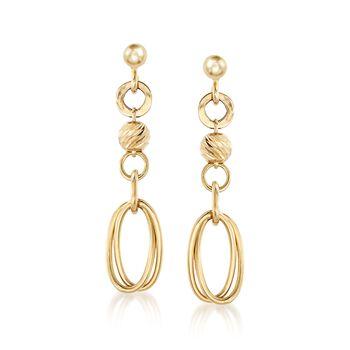 Italian 18kt Yellow Gold Multi-Link Drop Earrings, , default