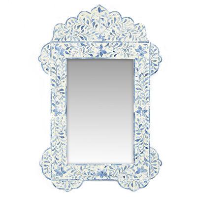 Milos Bone Inlay Wall Mirror, , default