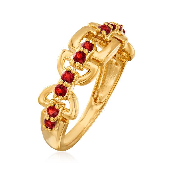 .40 ct. t.w. Garnet Ring in 18kt Gold Over Sterling