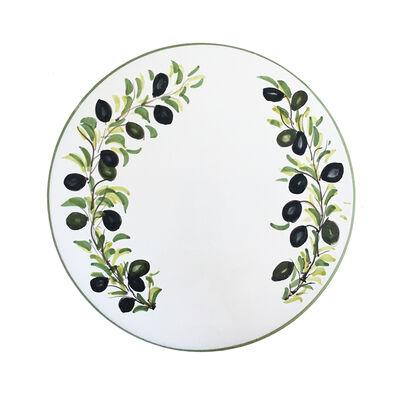 """Abbiamo Tutto Italian """"Classic Olive"""" Ceramic Trivet/Cheeseboard, , default"""