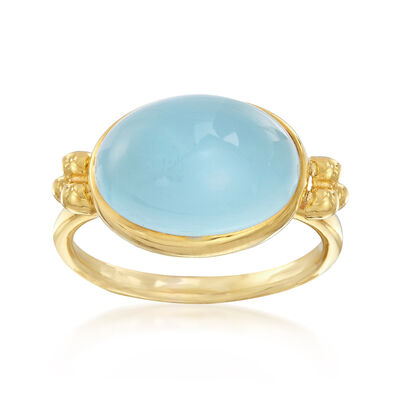 Mazza 6.00 Carat Aquamarine Ring in 14kt Yellow Gold, , default