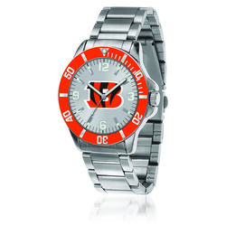 Men's 46mm NFL Cincinnati Bengals Stainless Steel Key Watch, , default