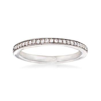 Gabriel Designs .15 ct. t.w. Diamond Wedding Ring in 14kt White Gold, , default
