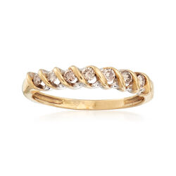 C. 1990 Vintage .25 ct. t.w. Champagne Diamond Ring in 10kt Yellow Gold, , default