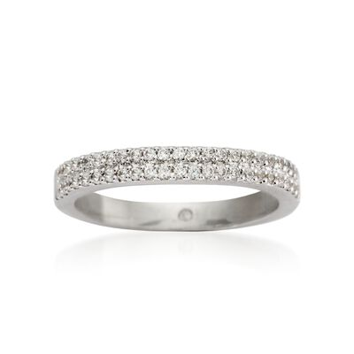 Gabriel Designs .30 ct. t.w. Diamond Wedding Ring in 14kt White Gold