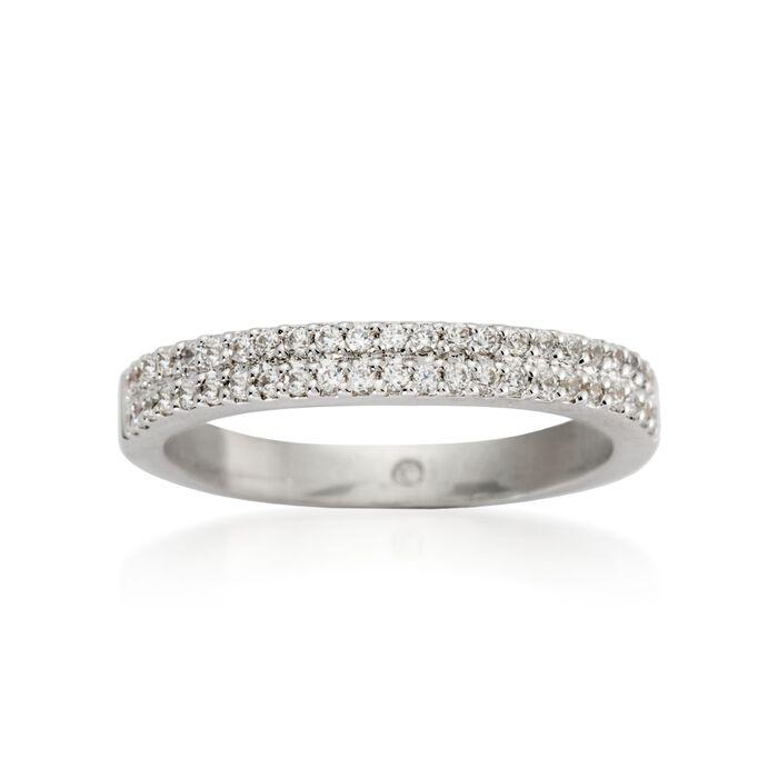 Gabriel Designs .30 ct. t.w. Diamond Wedding Ring in 14kt White Gold, , default