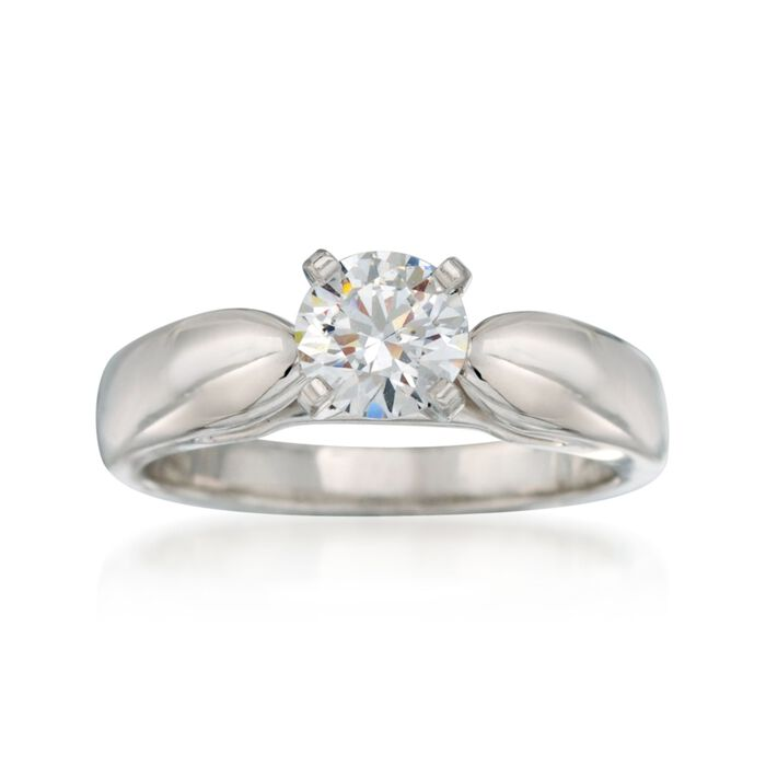 14kt White Gold Cathedral Engagement Ring Setting