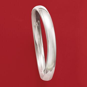 Italian Sterling Silver Polished Bangle Bracelet, , default