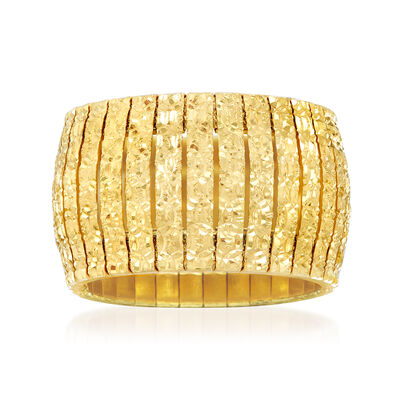 Italian 18kt Yellow Gold Over Sterling Silver Cleopatra Ring, , default