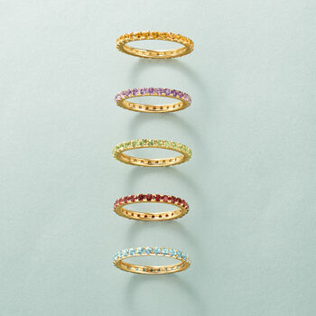 1.00 ct. t.w. Citrine Eternity Band in 14kt Yellow Gold, , default