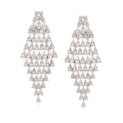 1.60 ct. t.w. Diamond Cascading Drop Earrings in 18kt White Gold