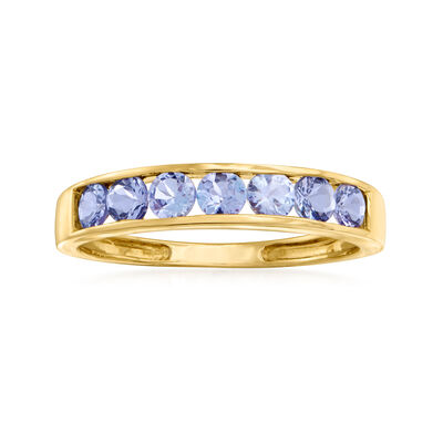 .70 ct. t.w. Channel-Set Tanzanite Ring in 14kt Yellow Gold