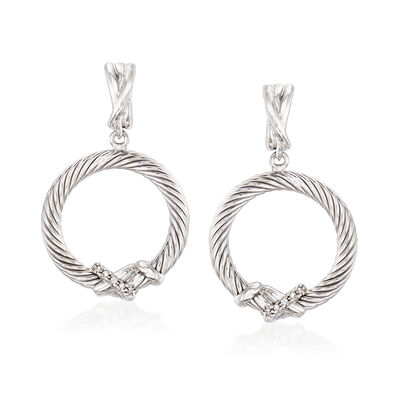 "Phillip Gavriel ""Italian Cable"" Sterling Silver Drop Earrings"