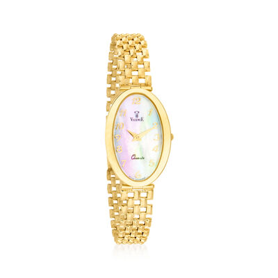 Vicence Women's 20mm 14kt Yellow Gold Watch
