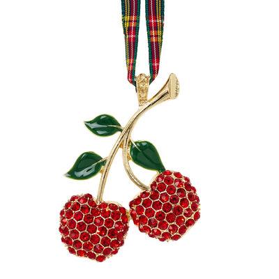 Joanna Buchanan Crystal Cherry Ornament, , default