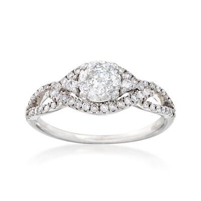 1.00 ct. t.w. Diamond Open-Space Ring in 14kt White Gold, , default