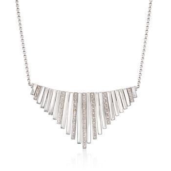 ".15 ct. t.w. Diamond Bib Necklace in Sterling Silver. 20"", , default"