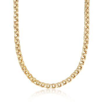 "14kt Yellow Gold Polished Triple-Link Necklace. 20"", , default"