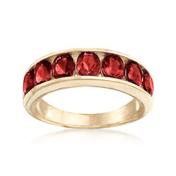 3.10 ct. t.w. Garnet Eternity Band in 14kt Yellow Gold, , default