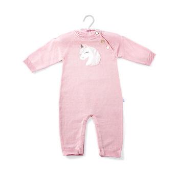 Elegant Baby Pink Unicorn Baby Gift Bundle - 0-3 Months