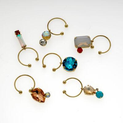 Joanna Buchanan Set of 6 Pastel Jeweled Wine Charms, , default