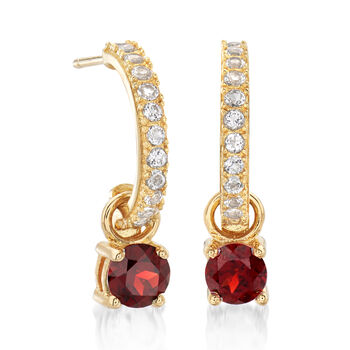 2.70 ct. t.w. Mixed Gem Interchangeable Earrings in 18kt Gold Over Sterling, , default