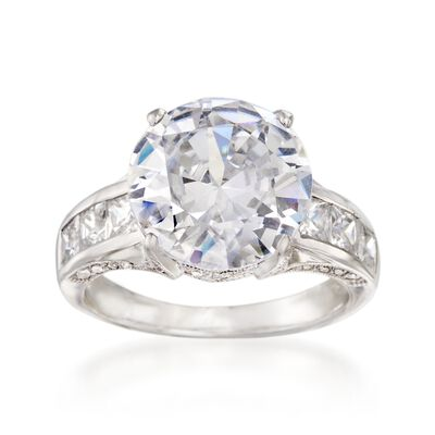 6.72 ct. t.w. CZ Ring in Sterling Silver, , default