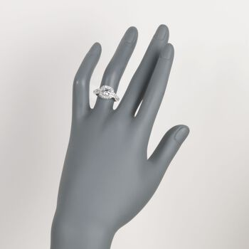 2.09 ct. t.w. Certified Diamond Halo Engagement Ring in 18kt White Gold, , default