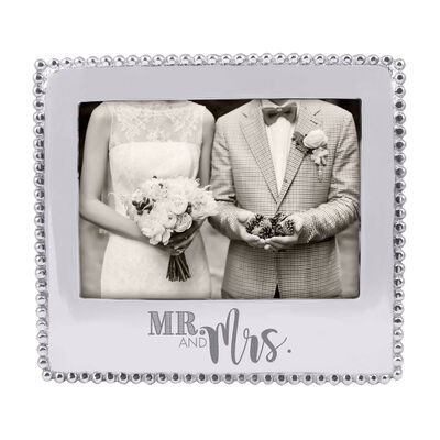"Mariposa ""Mr. and Mrs."" Beaded 5x7 Photo Frame"