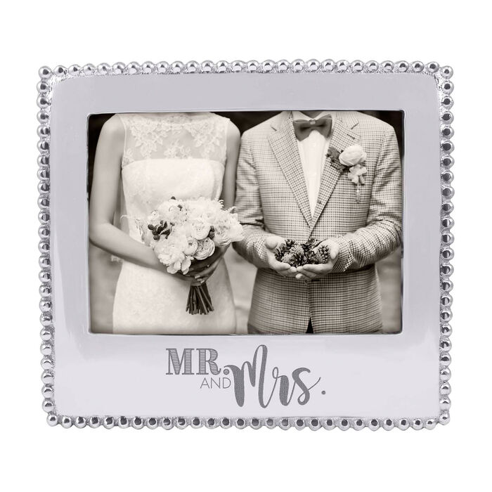"""Mariposa """"Mr. and Mrs."""" Beaded 5x7 Photo Frame, , default"""