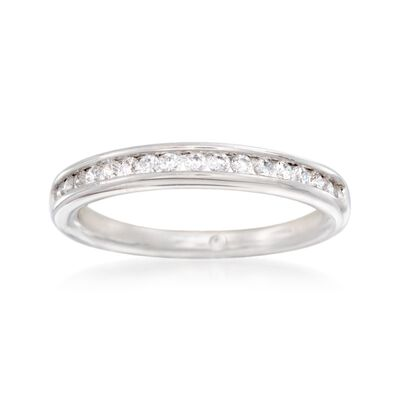 Gabriel Designs .27 ct. t.w. Channel-Set Diamond Wedding Ring in 14kt White Gold, , default