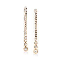 .50 ct. t.w. Diamond Linear Drop Earrings in 14kt Yellow Gold, , default