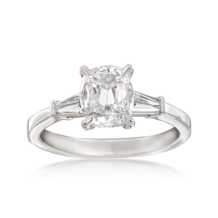Henri Daussi 1.53 ct. t.w. Certified Diamond Engagement Ring in 18kt White Gold