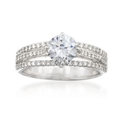 Simon G. .41 ct. t.w. Diamond Engagement Ring Setting in 18kt White Gold, , default
