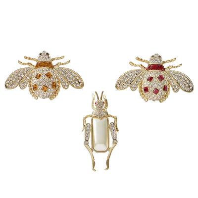 Joanna Buchanan Set of 3 Jeweled Insect Clips, , default