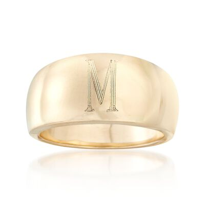 Italian 14kt Yellow Gold Single Initial Ring, , default