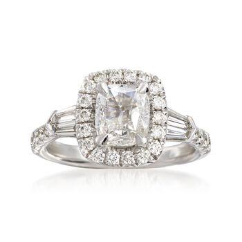 Henri Daussi 1.69 ct. t.w. Certified Diamond Ring in 18kt White Gold, , default