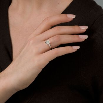 1.50 Carat Diamond Solitaire Ring in 14kt White Gold