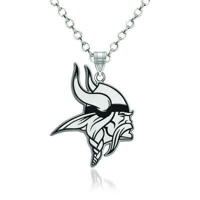 "Sterling Silver NFL Minnesota Vikings Enamel Pendant Necklace. 18"", , default"