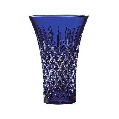 "Waterford Crystal ""Treasures of the Sea"" Araglin Blue Flared Vase"