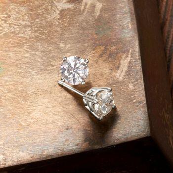 2.40 ct. t.w. Diamond Stud Earrings in Platinum, , default