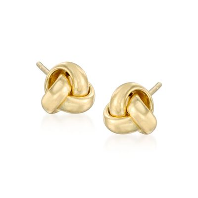14kt Yellow Gold Love Knot Stud Earrings