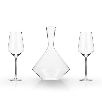 3-pc. Angled Crystal Bordeaux Set
